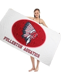 Subli-Plush Velour Terry Beach Towel/ Spot Print